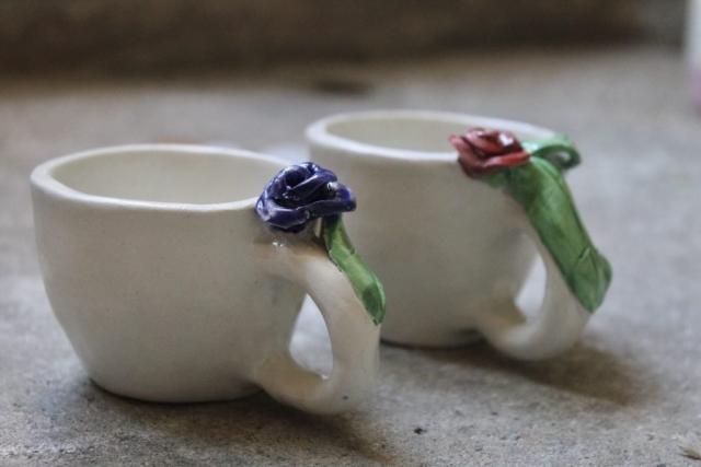 tazzine caffe fiorellini 3d