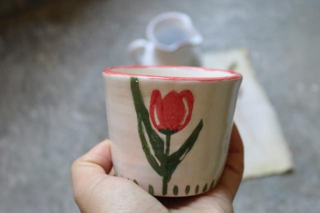 tazza bicchiere tulipano