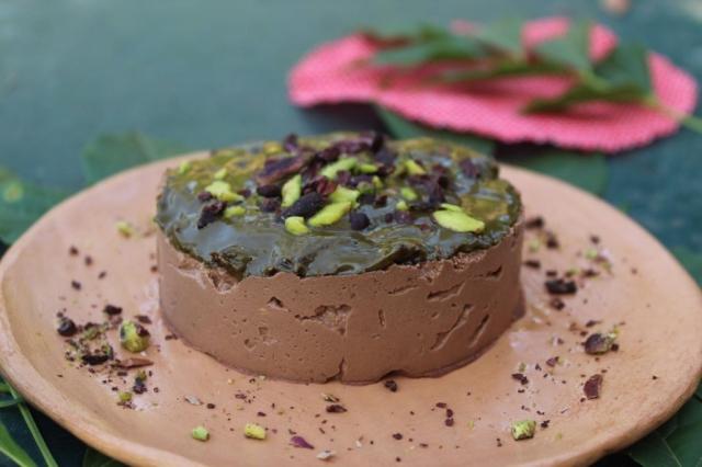 tortiino raw cioccolato e pistacchio