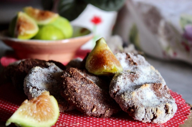 biscotti cacao e fichi senza zucchero ne glutine