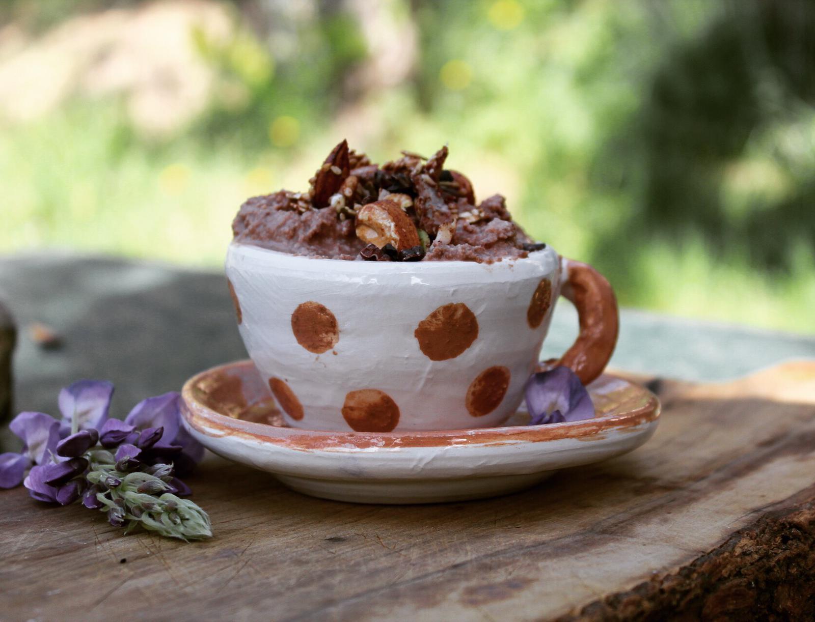 mousse al cacao senza zucchero